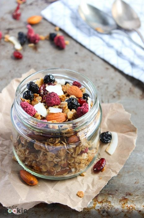 Gluten Free Summer Berry Granola (Dairy Free)