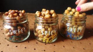 Roasted Chickpea Snacks, 3 Ways