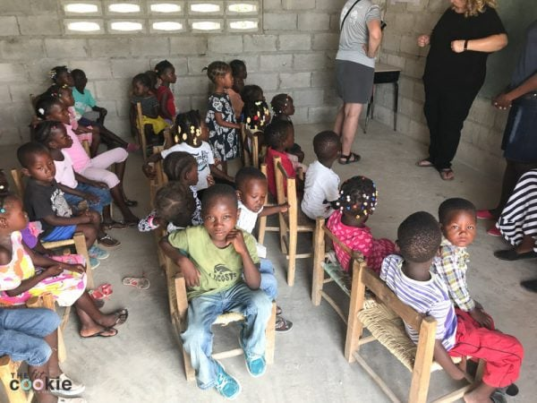 haitian kindergarten children in classroom in the Te Nwa School