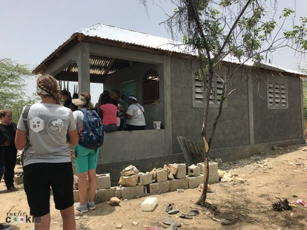new two room concrete block home in Haiti built with funds raised by The Mission Haiti