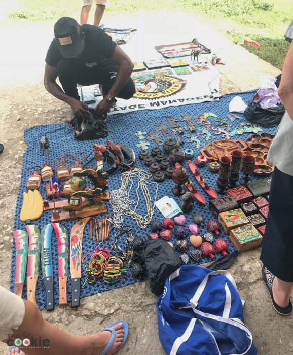 artisan selling handmade Haitian items