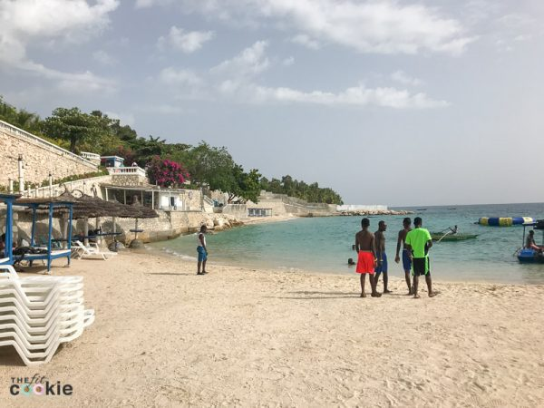 view of beach by the ocean at Wahoo Bay resort in Haiti