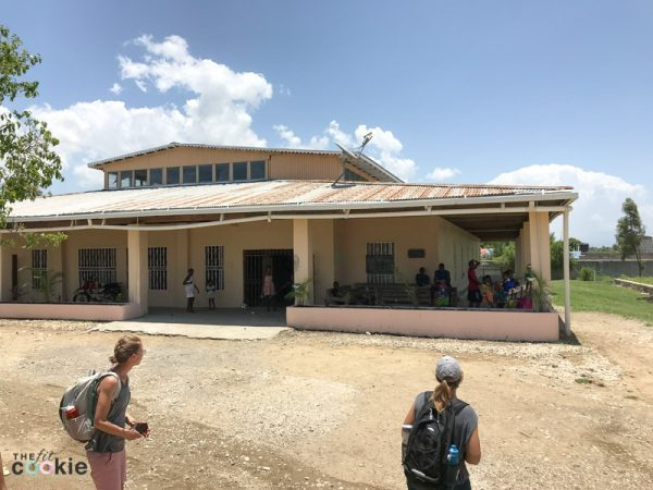 view of the front of the Cabaret Children's Home in Bercy, Haiti