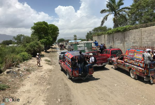 street scene in Haiti on the road out of Port au Prince heading to Cabaret Haiti