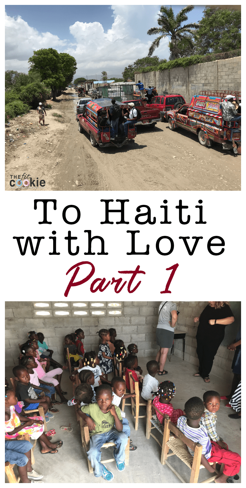 image collage of street scene in Haiti and Haitian children in kindergarten class
