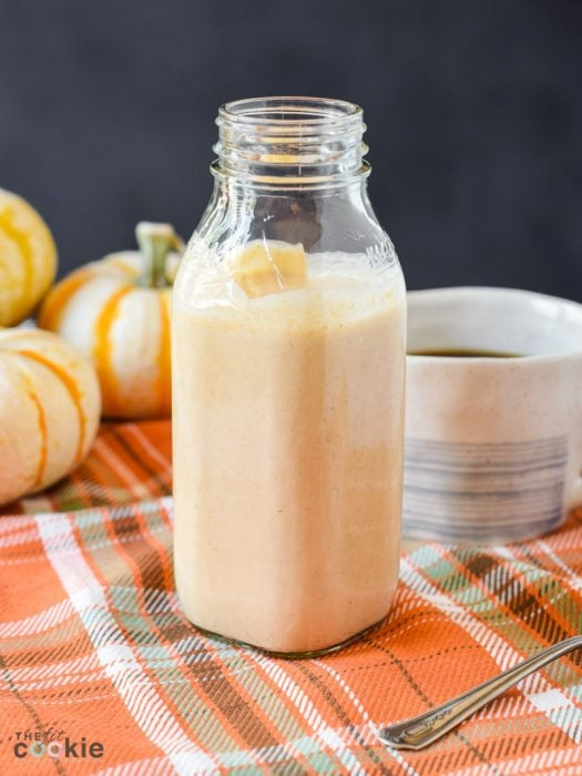 bottle of dairy free sugar free pumpkin spice creamer