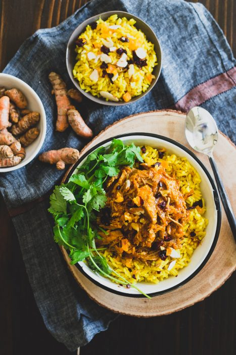 Instant Pot Coconut Pork with Turmeric Rice (gluten free, dairy free) - Running to the Kitchen