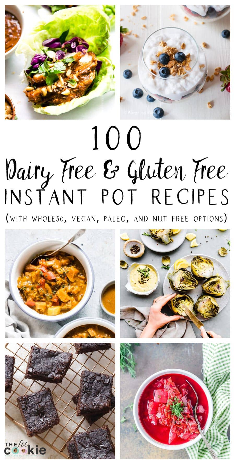 Image collage of gluten free and dairy free instant pot recipes