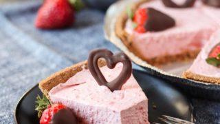 Dairy Free Strawberry Cheesecake (Gluten Free)