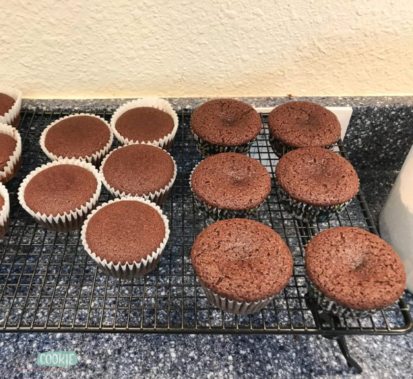 unfrosted gluten free chocolate cupcakes