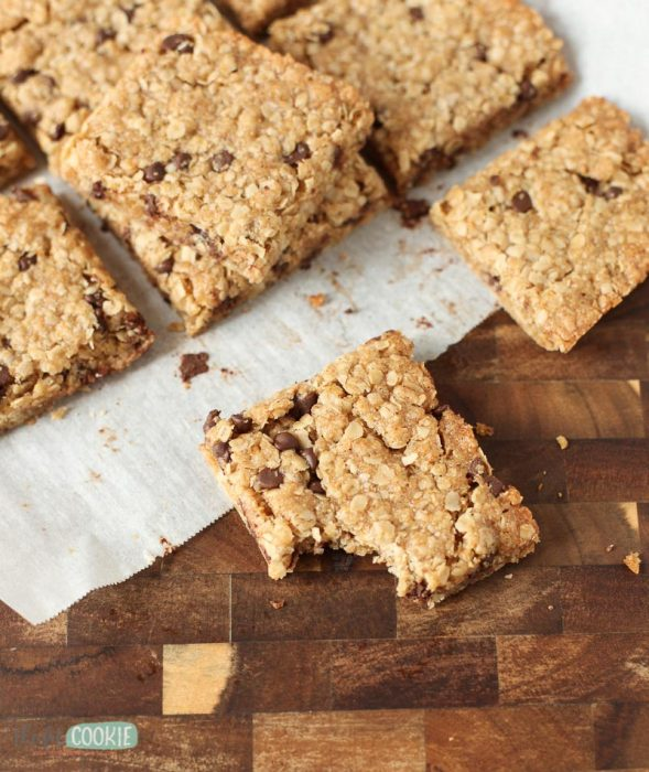Craving granola bars that are simple, chewy, and better for you than store-bought? Make some of our best Gluten Free Granola Bars at home pack them for snacks and lunch! These also make awesome school snacks since they're peanut free   thefitcookie.com #peanutfree #glutenfree #snacks