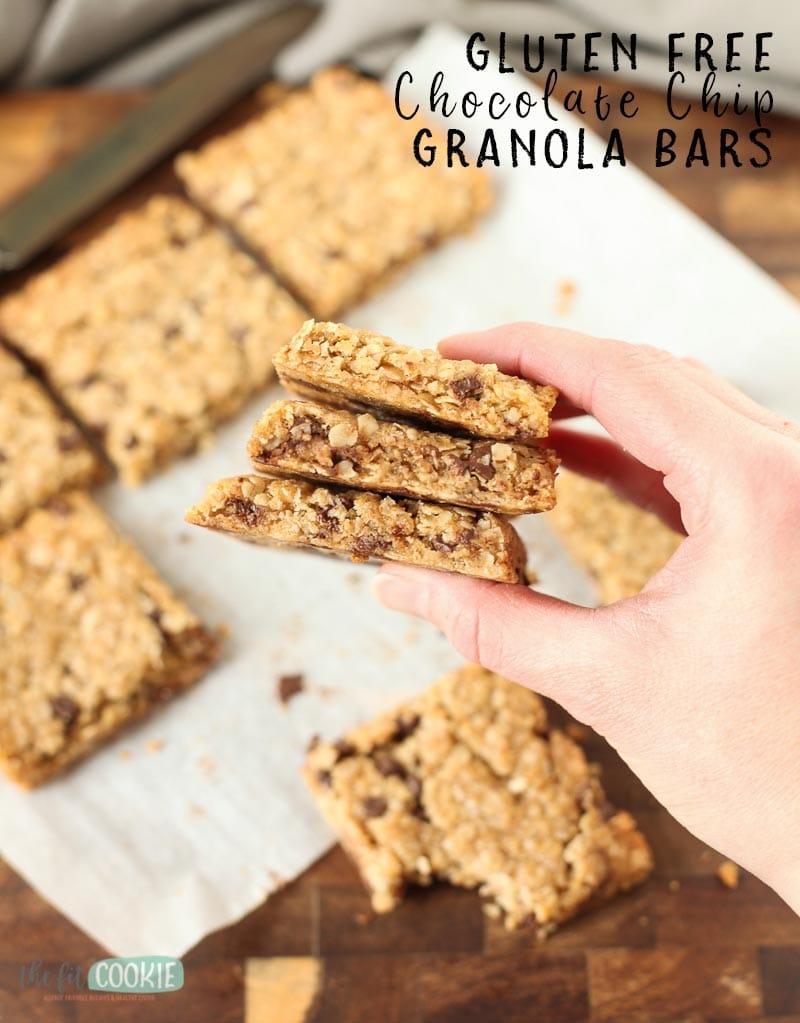 stack of gluten free granola bars