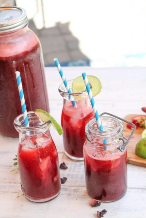 Paleo Strawberry Hibiscus Tea (keto) - Tessa Domestic Diva