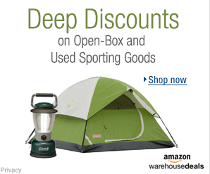 Deep discounts on open-box and used sporting goods at Amazon Warehouse