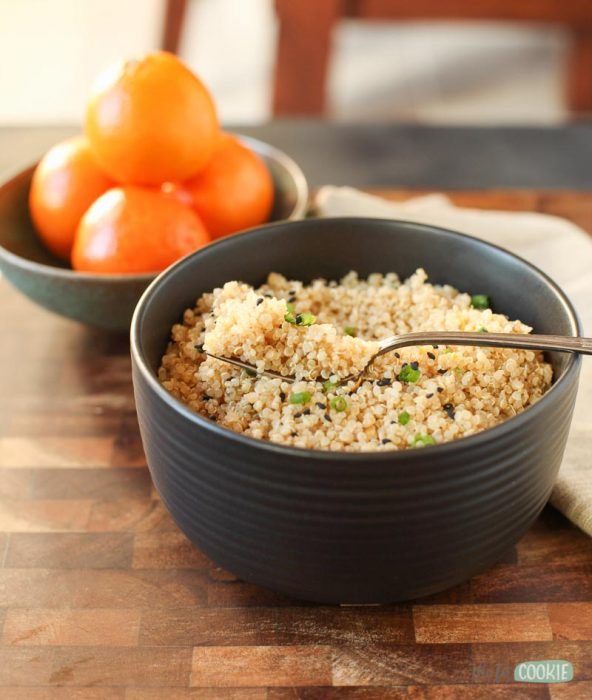 nut free soy free sesame orange instant pot quinoa with small oranges