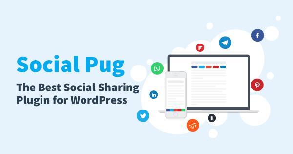 Social Pug blog social share buttons