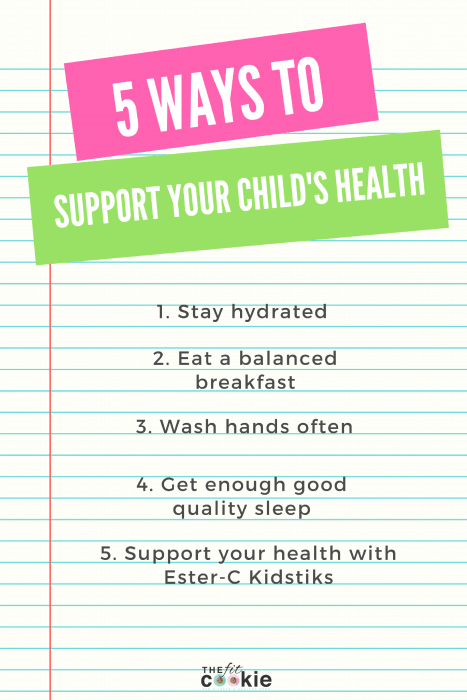 check list of ways to support your child's health during the school year