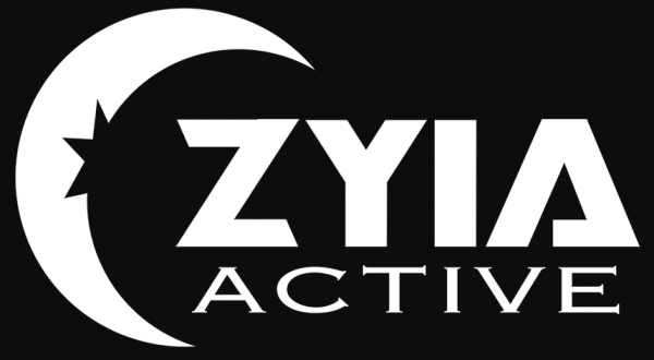 Zyia active logo - black and white
