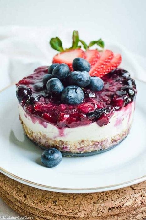 4th of July Vegan Cheesecake - My Dainty Soul Curry