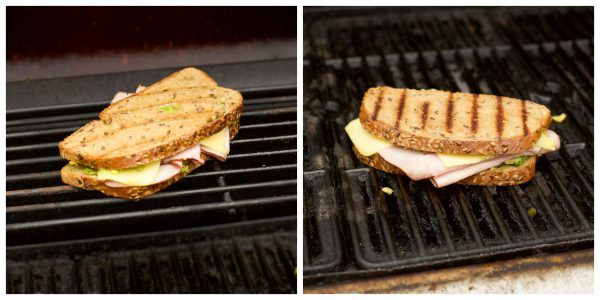 image collage of grilled cheese sandwich