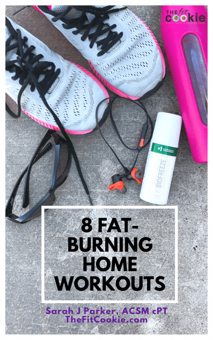 fat burning home workouts ebook - shop the fit cookie