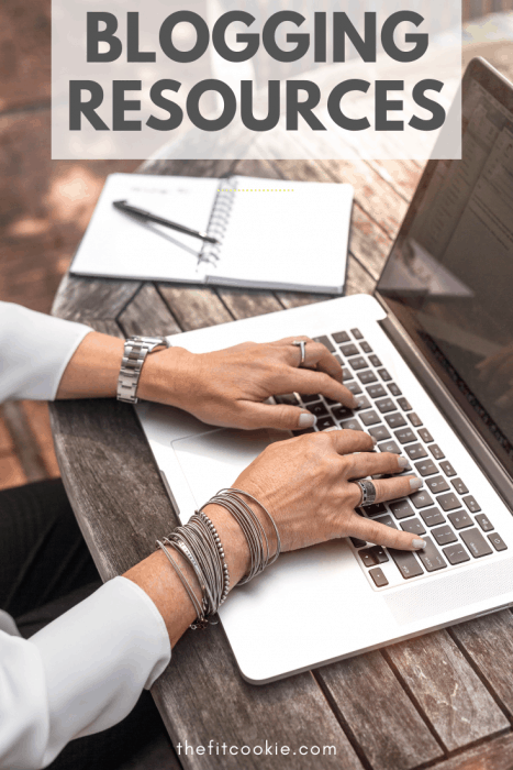 woman typing on a macbook - blogging resources