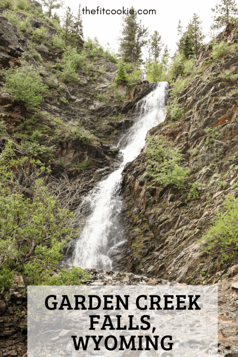 photo of Garden Creek falls with text overlay
