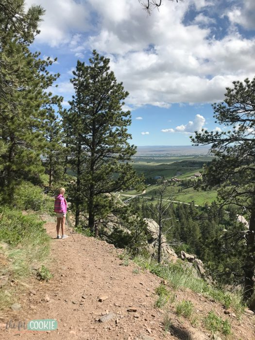 hiking view of casper wy