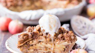 Apple Crumble Pie (Gluten Free, Paleo + Vegan) • Bakerita