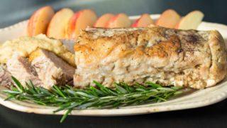 Pork Loin with Rosemary Applesauce