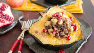 Meat Lover's Apple Stuffed Acorn Squash - Healthy World Cuisine