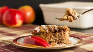 Grain-Free Apple Cinnamon Coffee Cake