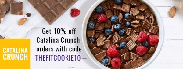 Catalina Crunch discount code - keto cereal and snacks