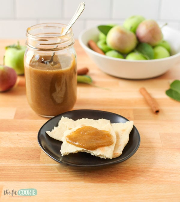 instant pot apple butter spread on flatbread