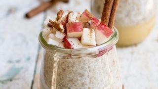 Cinnamon apple pie chia pudding