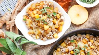 Turkey, Apples and Onions Hash