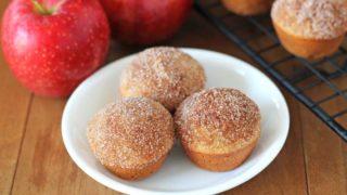 Mini Gluten Free Vegan Apple Muffins