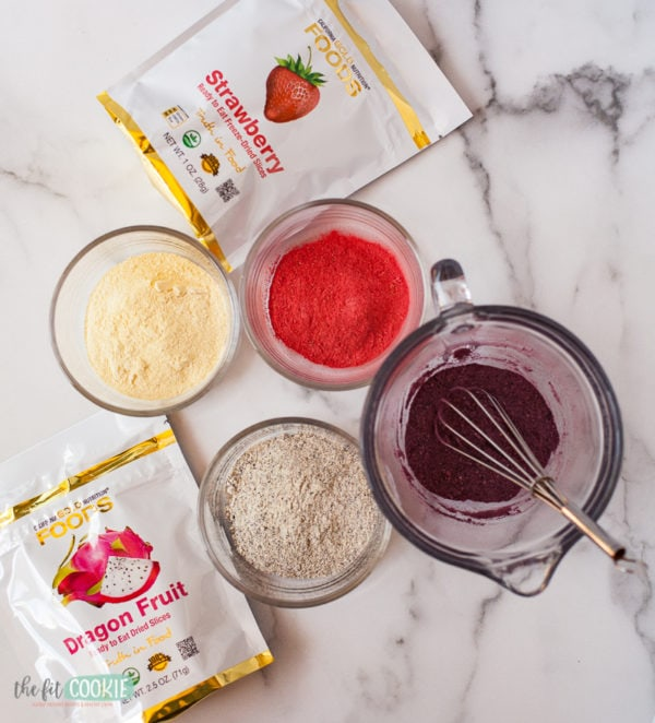 freeze dried fruit made into fruit powder