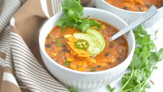 Instant Pot Tortilla Quinoa Soup Recipe
