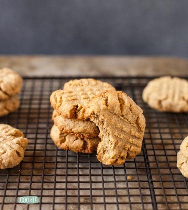gluten free sunbutter cookie with a bite taken