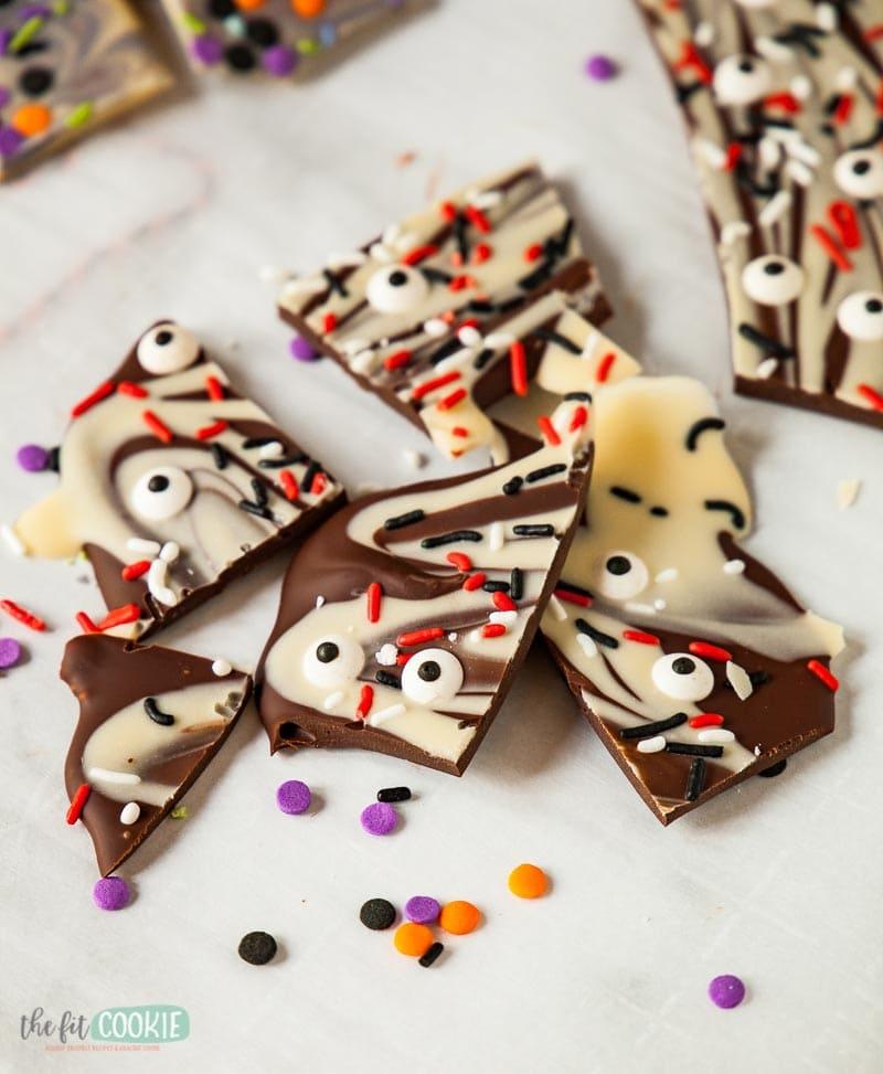 allergy friendly halloween chocolate bark