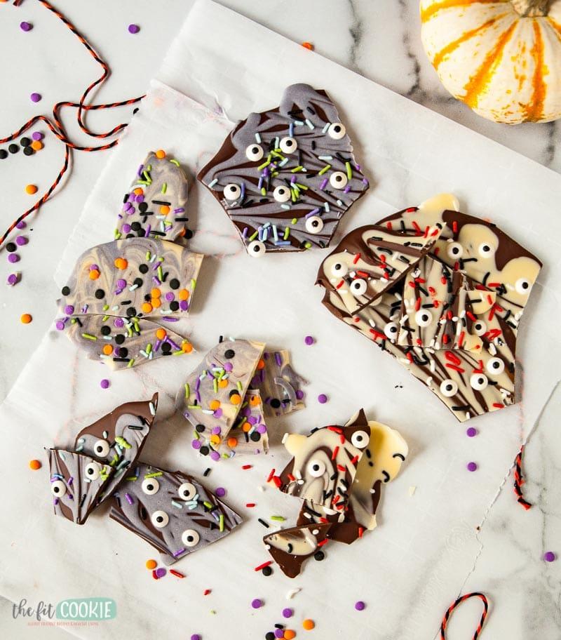 vegan gluten free candy bark for halloween
