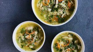 Chicken Coriander Soup - Instant Pot