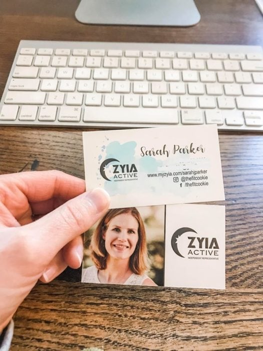 my old zyia business cards