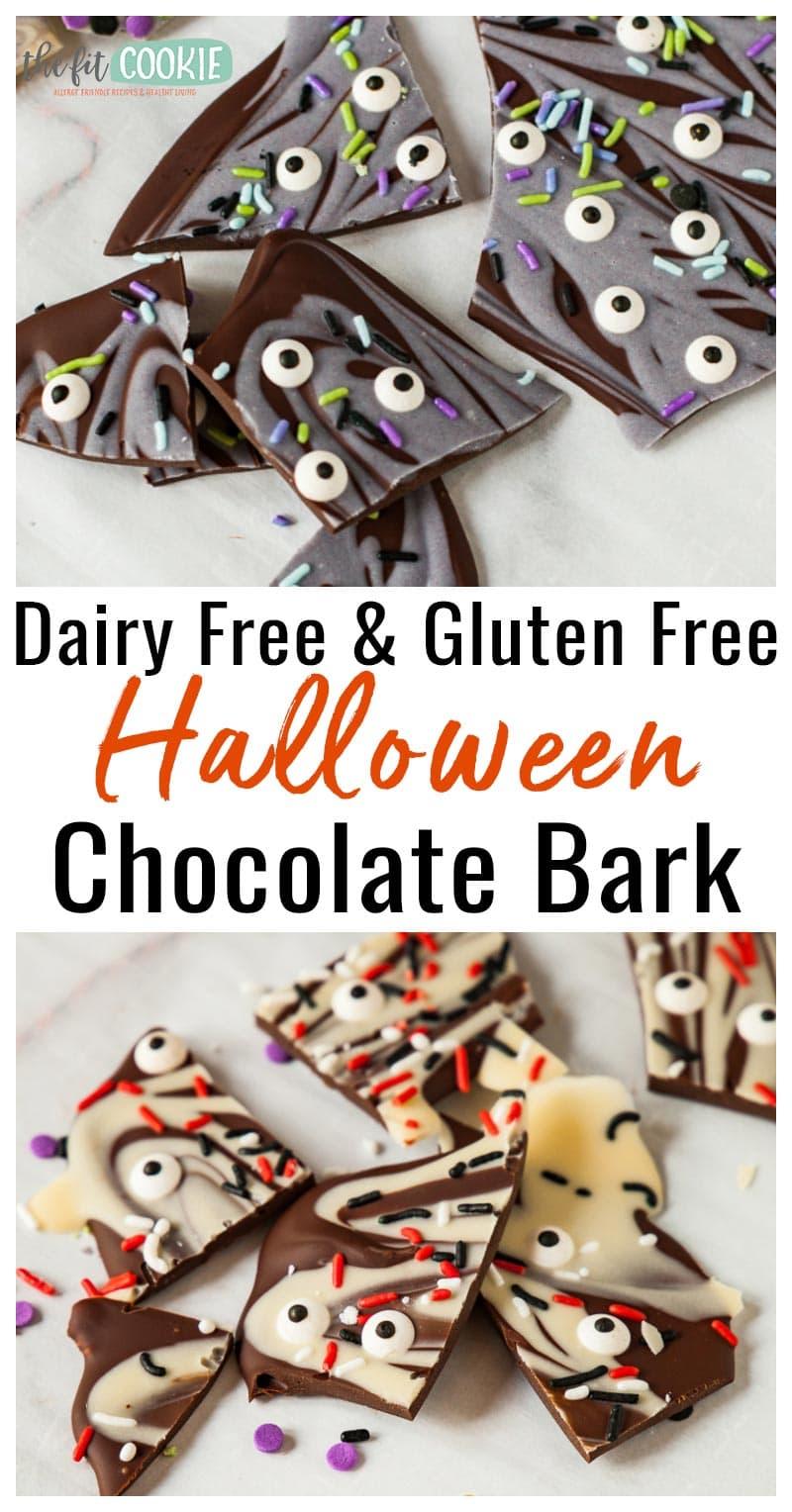 top 8 allergen free halloween candy bark