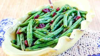 Orange Glazed Green Beans with Cranberries Recipe