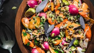 Fall Harvest Salad with Roasted Vegetables & Wild Rice