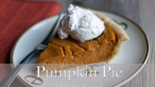 Pumpkin Pie {gluten free + vegan}