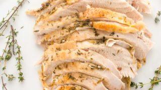Simple Herb and Garlic Roasted Turkey Breast {GF}