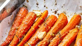 Tahini Maple - glazed Carrots (vegan) • Ve Eat Cook Bake